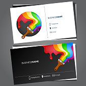 Business card for painting concept