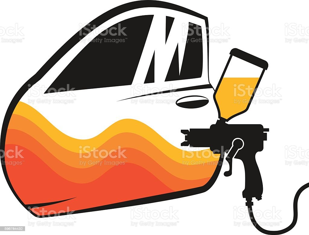 Painting cars vector vector art illustration