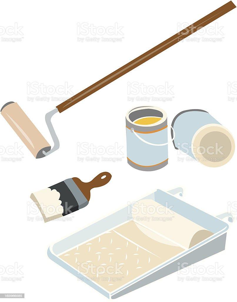 Painting Equipment royalty-free stock vector art