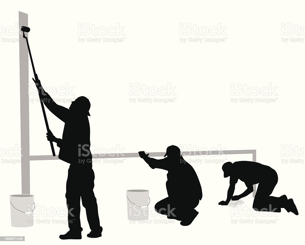 Painting Job Vector Silhouette royalty-free painting job vector silhouette stock vector art & more images of adult