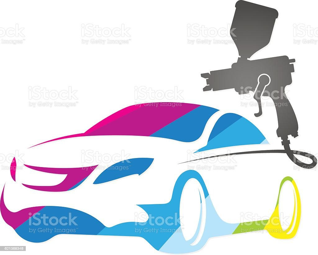 Painting of auto design vector art illustration