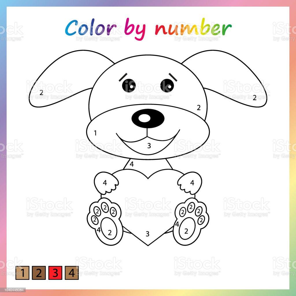 Boyama Sayfası Renk Numaralarına Göre çalışma Sayfası Eğitim Için