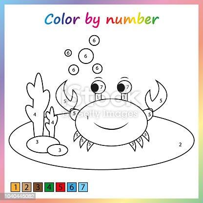 istock Página de pintura, color por números. Hoja de trabajo para la ...