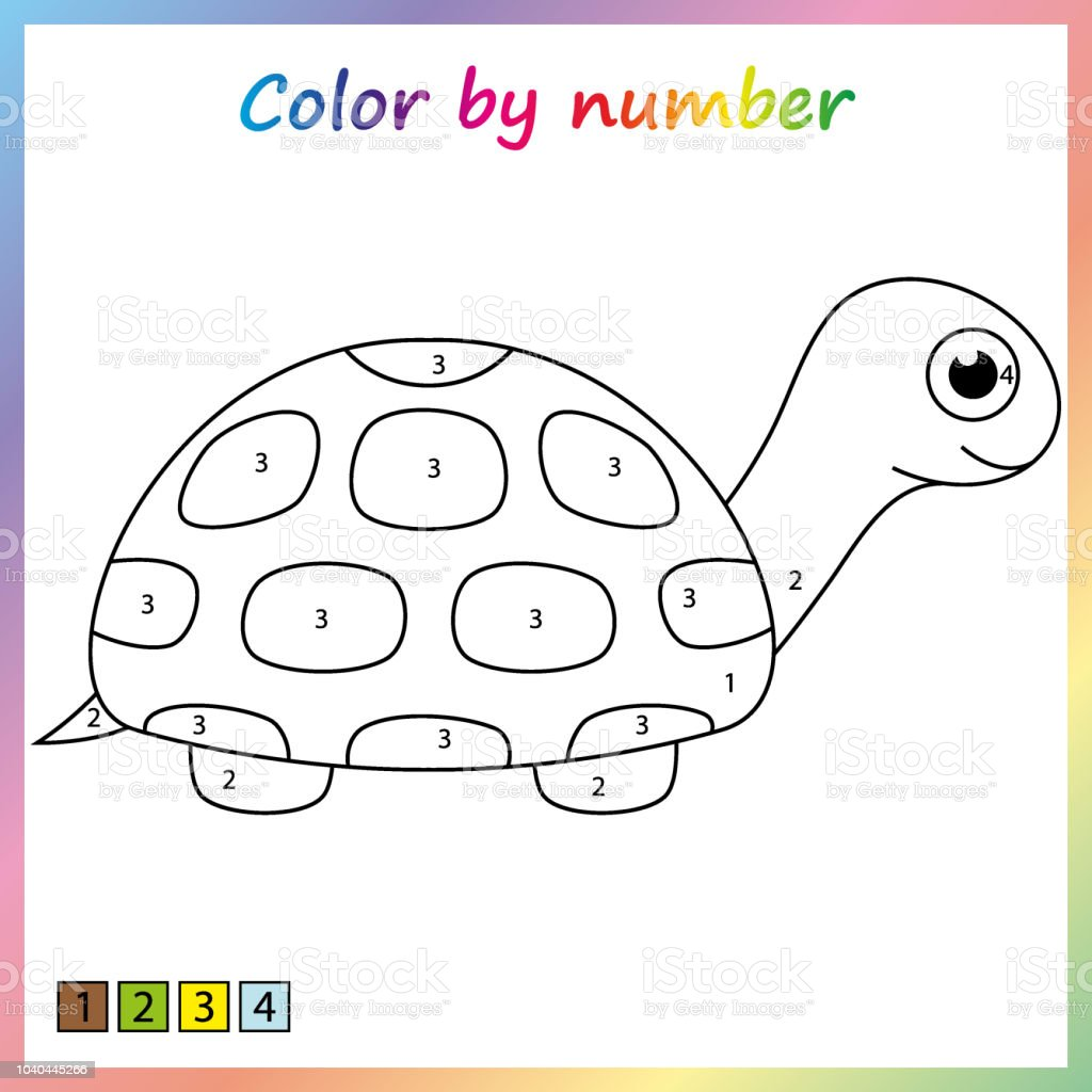 Painting Page Color By Numbers Worksheet For Education ...