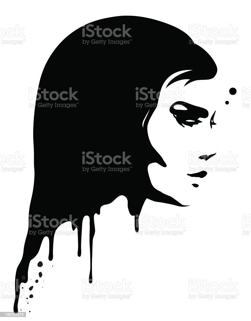 Painting Portrait vector art illustration