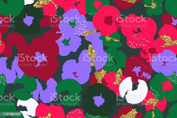 Painting universal freehand floral seamless pattern with gold glitter vector id1157562423?b=1&k=6&m=1157562423&s=612x612&h=zxc4wdonmygkxjb2n wngun6v48 m8 ydojd01cm0vm=