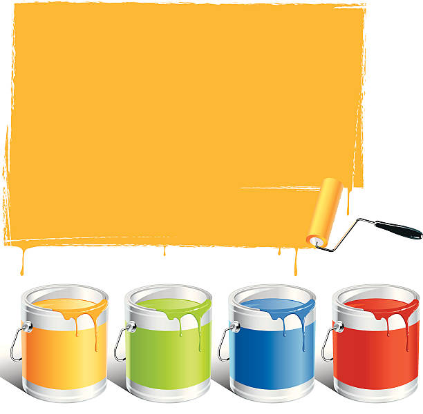Painting http://www.istockphoto.com/file_thumbview_approve.php?size=2&id=16443712 paint can stock illustrations