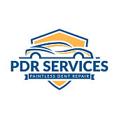 Paintless Dent Repair icon, PDR service symbol, automotive company