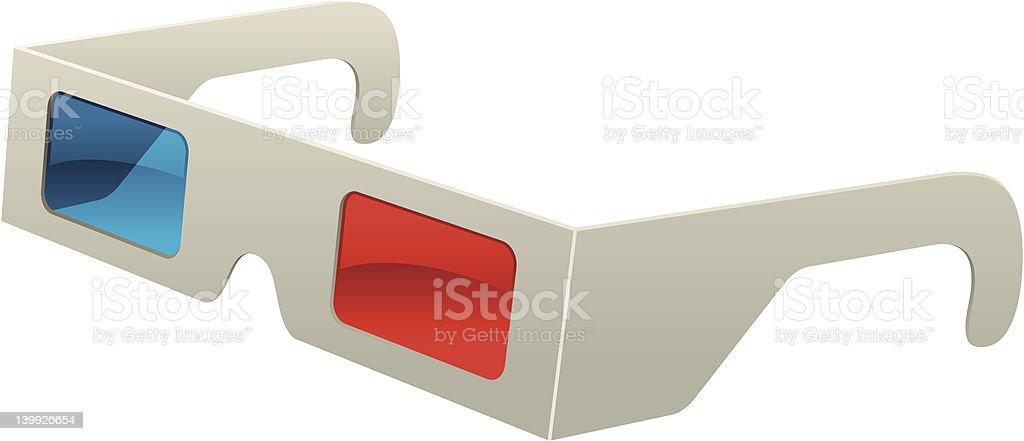 Paire de lunettes 3D - Illustration vectorielle