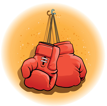 Pair of Boxing Gloves Hanging