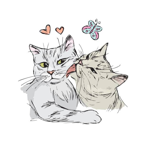 Download Royalty Free Cat Kiss Clip Art, Vector Images ...