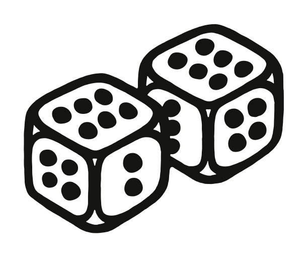 Pair of Dice Pair of Dice good luck charm stock illustrations