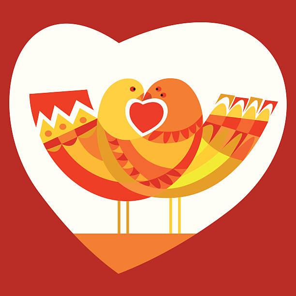 ilustraciones, imágenes clip art, dibujos animados e iconos de stock de amor par de palomas en - tintanegra00