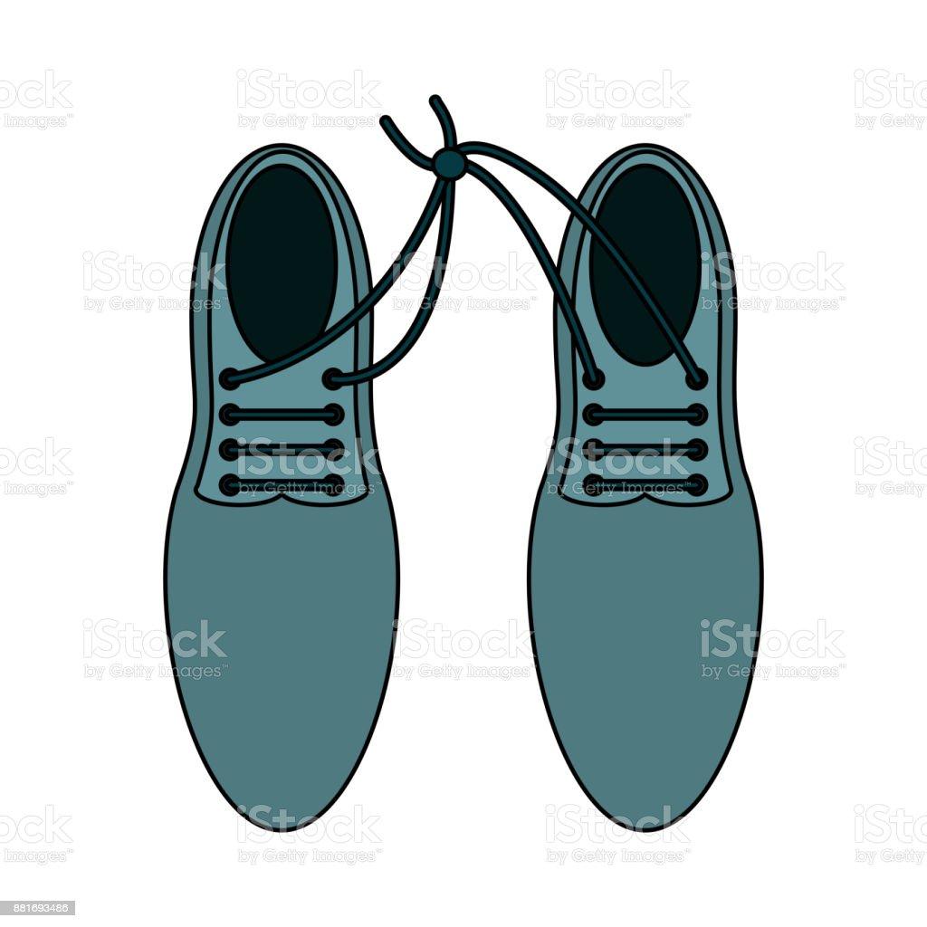 Pair of elegant shoes vector art illustration