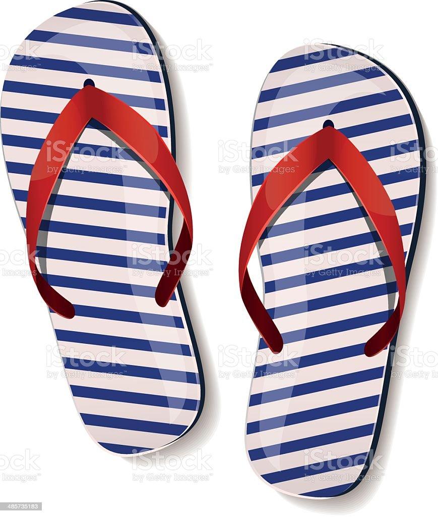 Pair of flip-flops. Vector illustration. vector art illustration