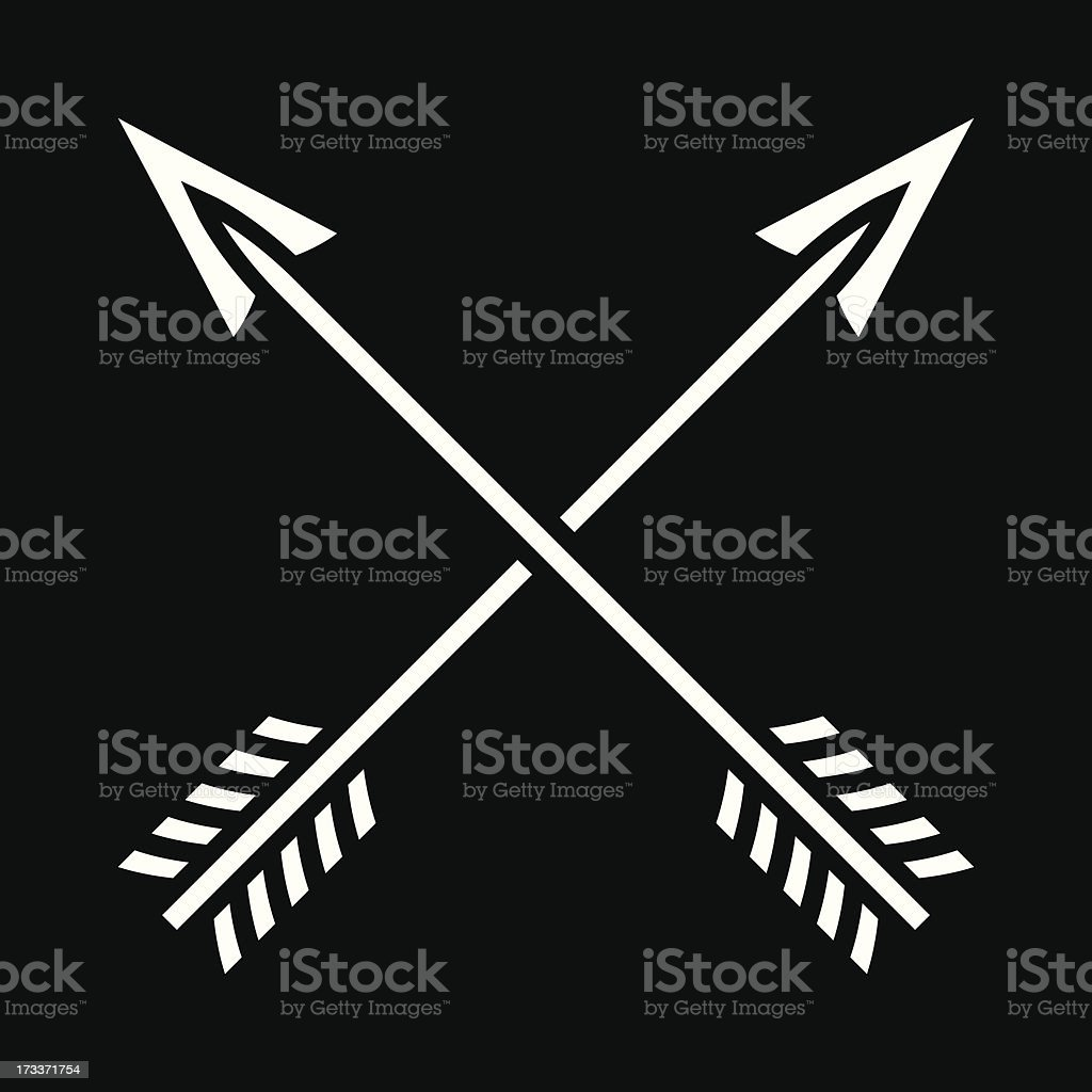 Pair of simple crossed arrows royalty-free pair of simple crossed arrows stock vector art & more images of arrow - bow and arrow