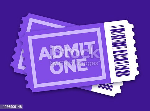 istock Pair of Tickets to a Movie Show or Other Entertainment Event 1276509148