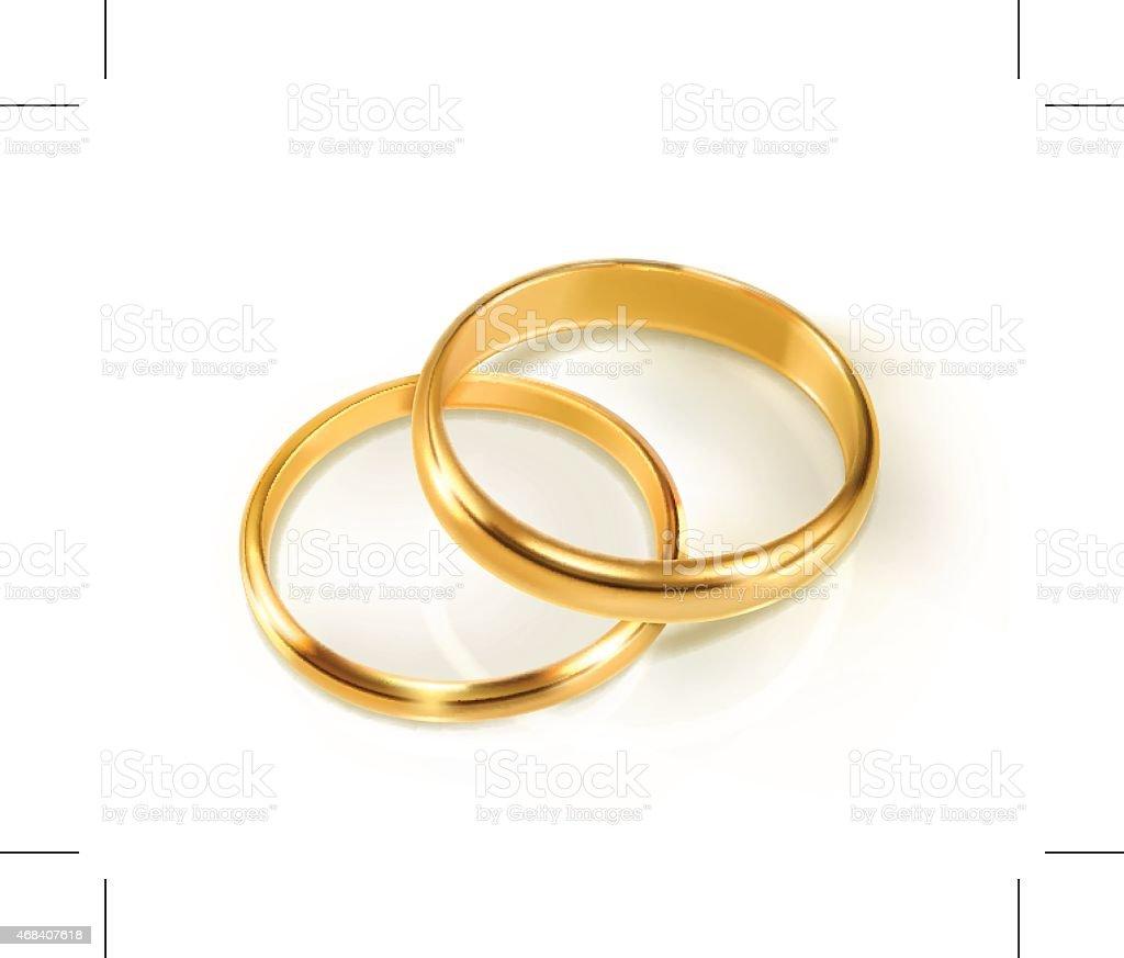 Pair of wedding rings, vector illustration vector art illustration