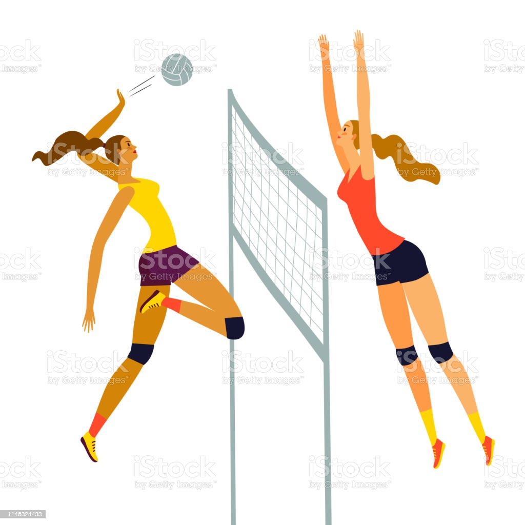 Volleyball By Exelionstar Clipart , Png Download - Girl Playing Volleyball  Anime, Transparent Png - kindpng