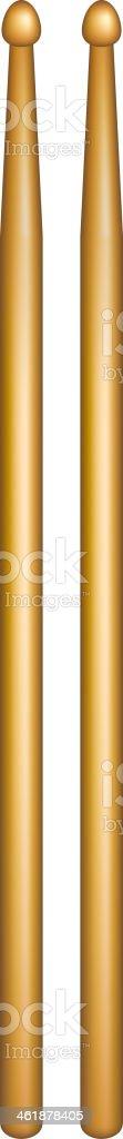 Paire de ou les manchons en bois - Illustration vectorielle