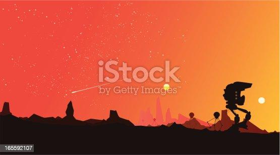 istock Paisaje rojo estrellado 165592107