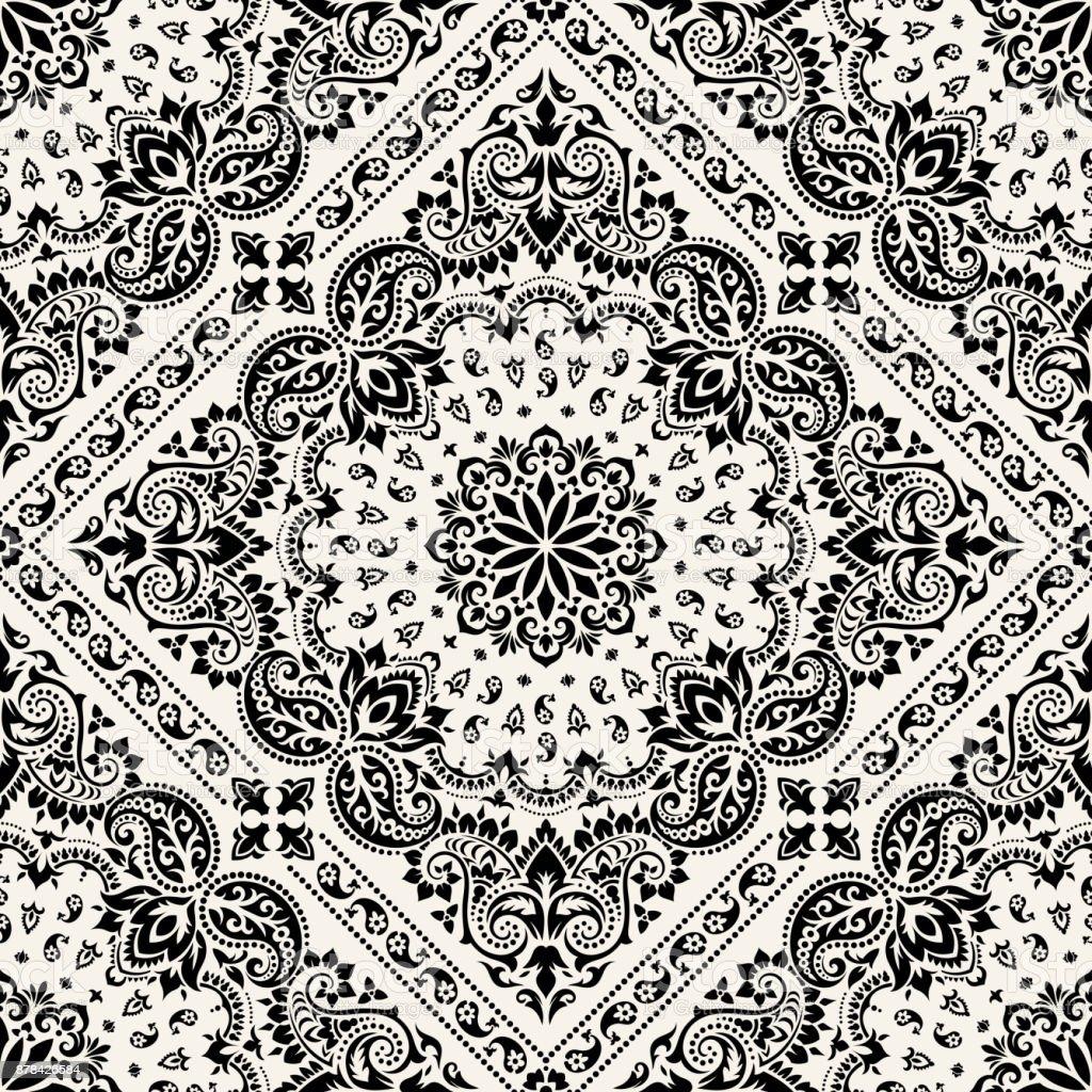 Paisley Bandana print vector art illustration