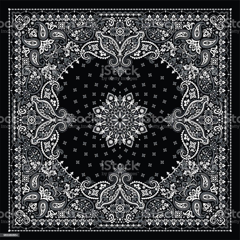 Paisley Bandana print - Grafika wektorowa royalty-free (Abstrakcja)