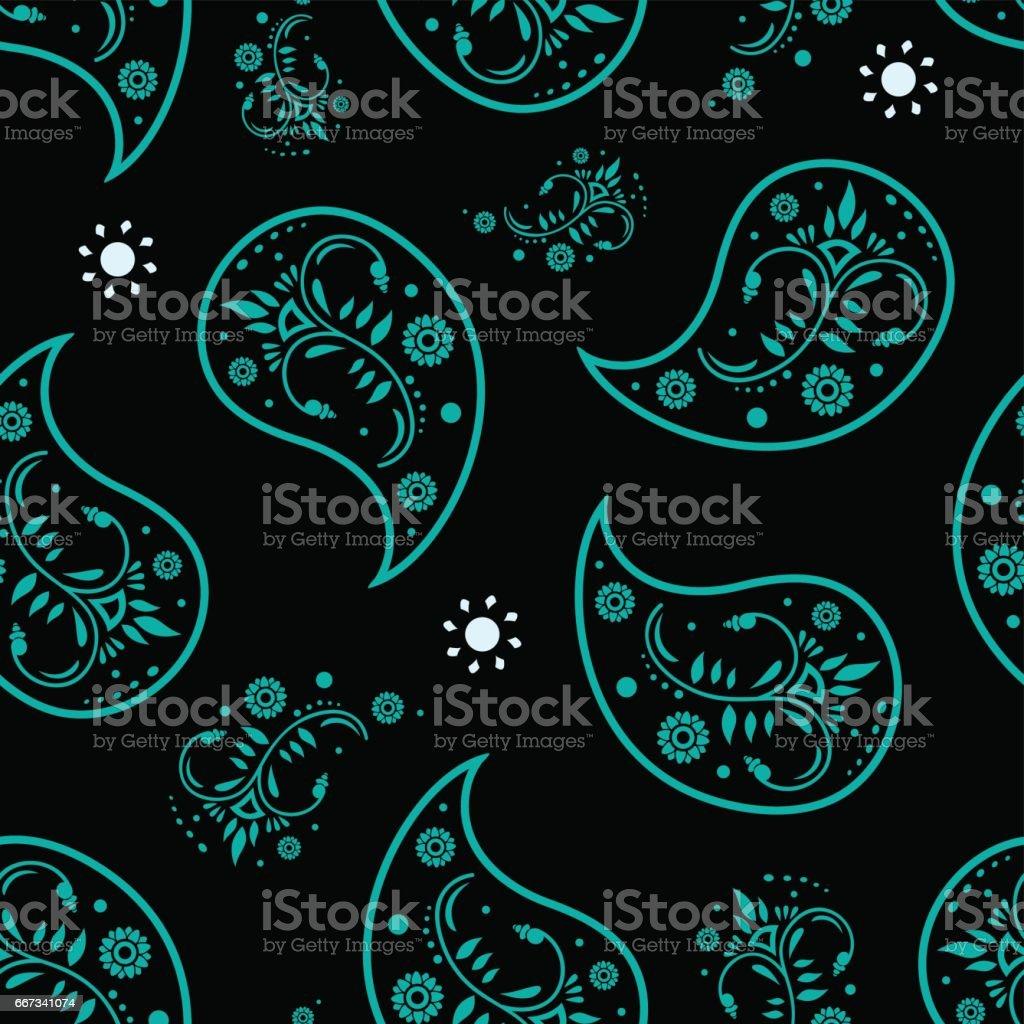 Amazing Wallpaper Dark Teal - paisley-dark-cyan-wallpaper-seamless-pattern-retro-design-vector-id667341074  Best Photo Reference_894020 .com/vectors/paisley-dark-cyan-wallpaper-seamless-pattern-retro-design-vector-id667341074