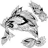 Paisley ornamental element