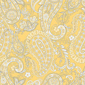 Paisley Pattern. Seamless Asian Textile Background