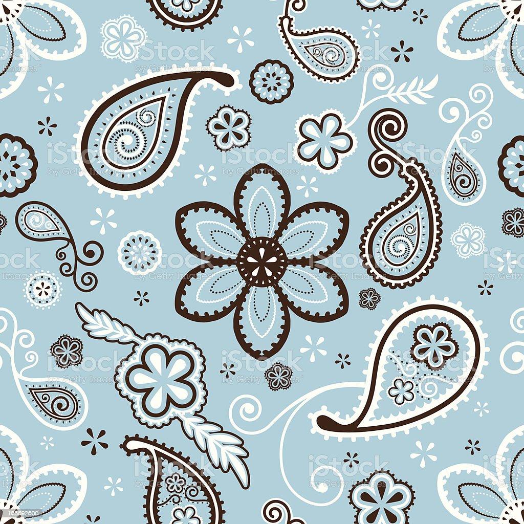 Paisley Pattern (Seamless) vector art illustration