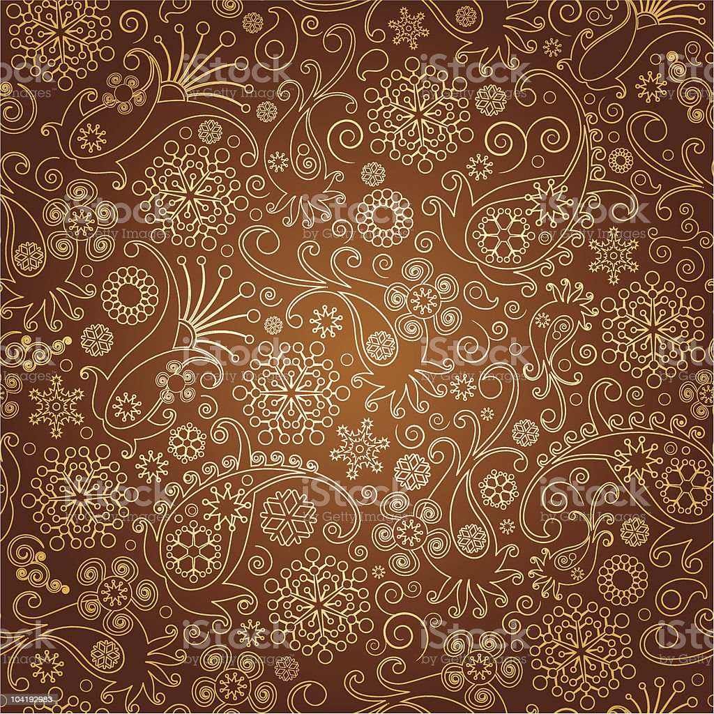 paisley seamless  background vector art illustration