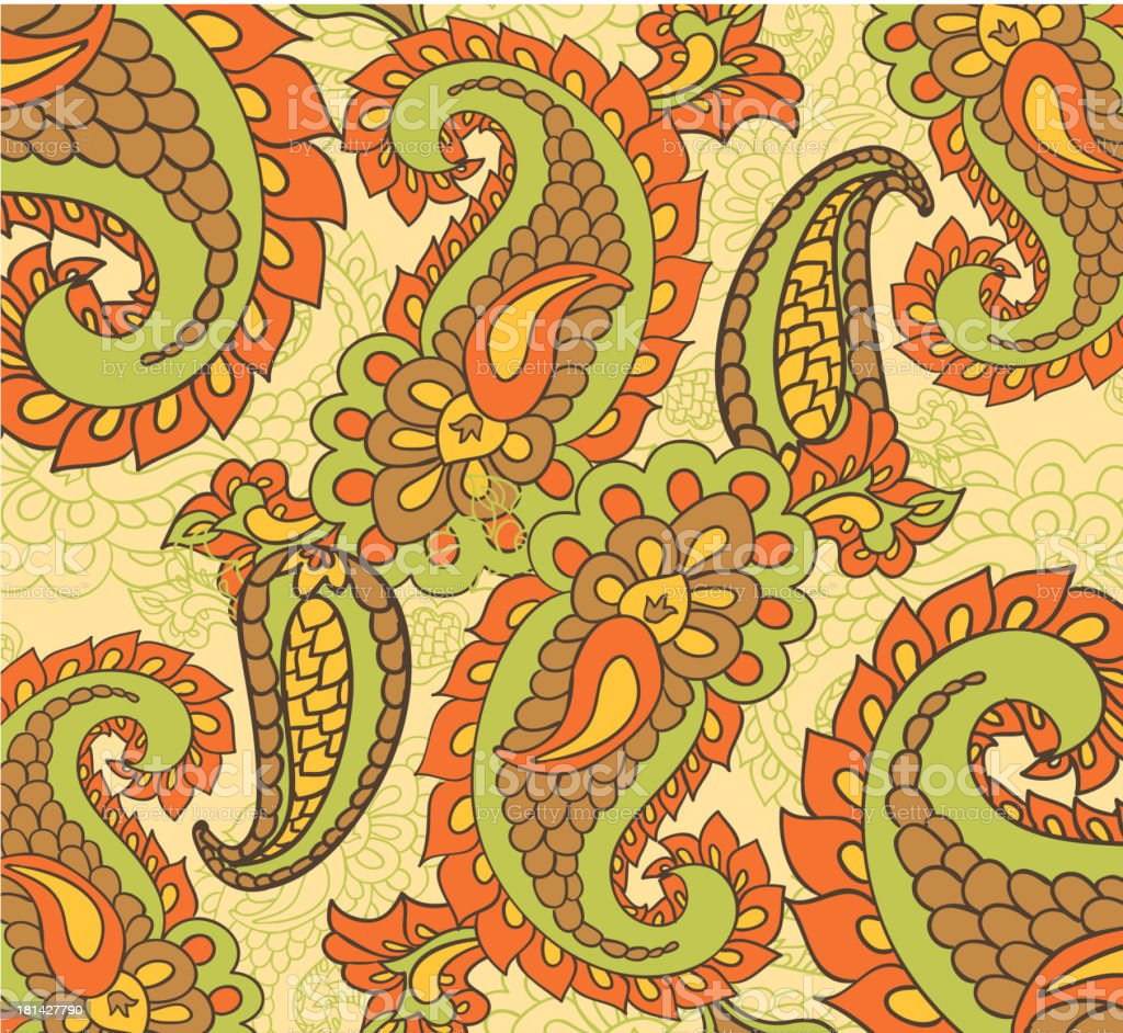 paisley seamless background royalty-free stock vector art