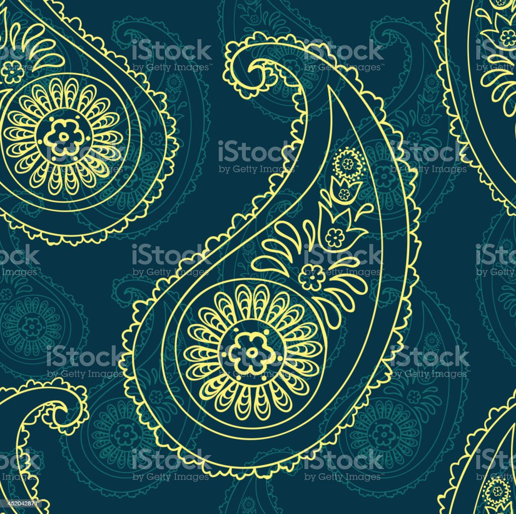 paisley seamless background royalty-free paisley seamless background stock vector art & more images of abstract