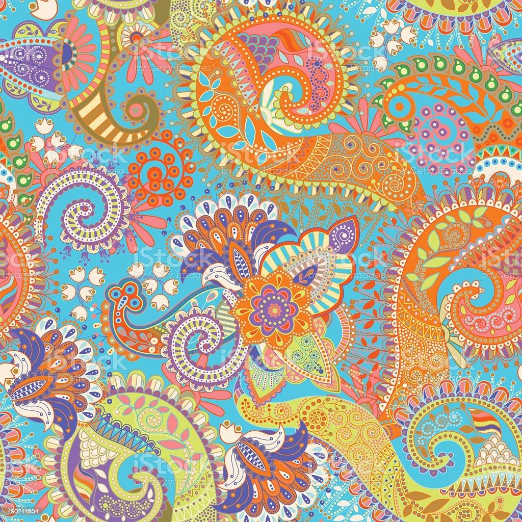 Bordi In Carta Da Parati.Paisley Pattern Senza Bordi Carta Da Parati Floreale Immagini