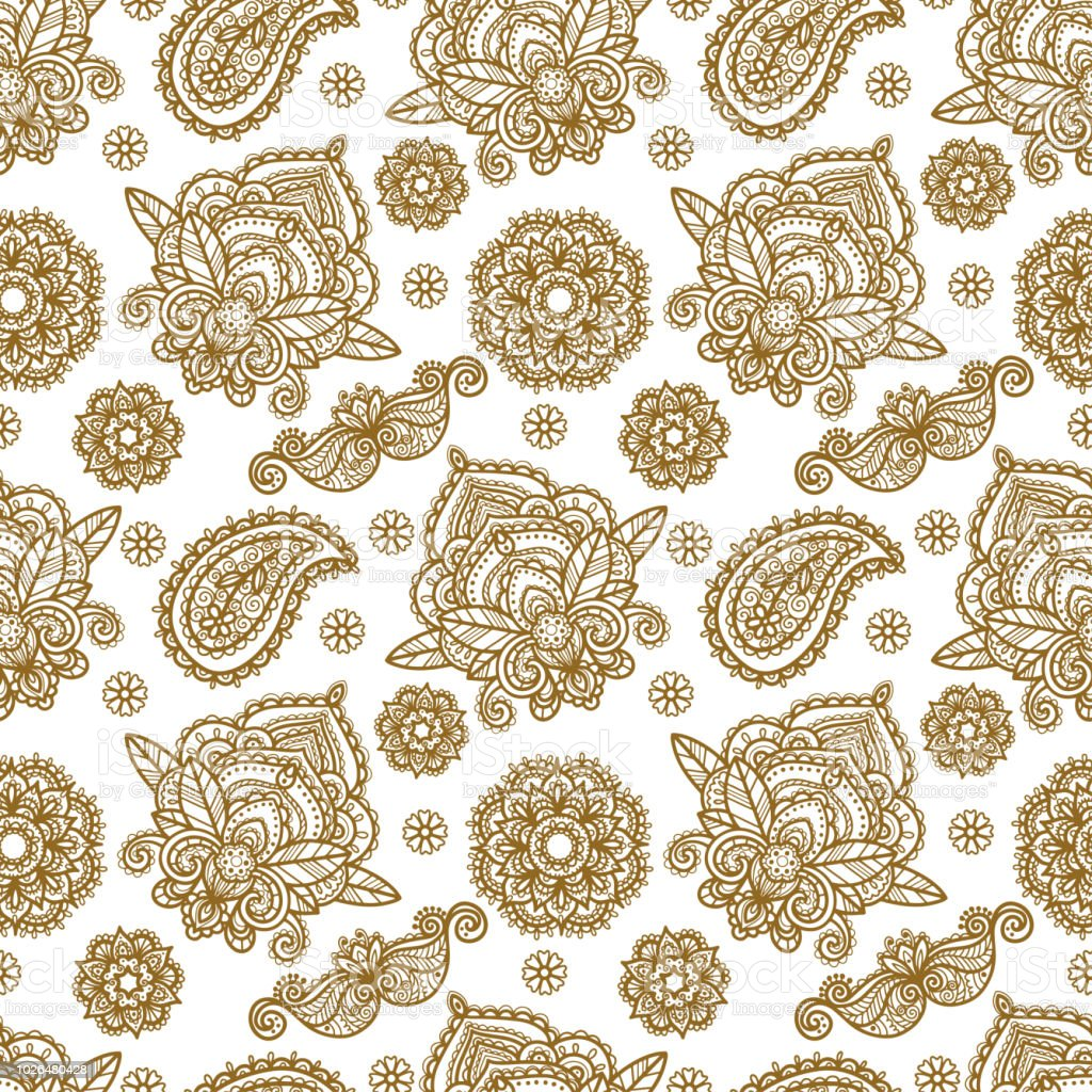 Paisley Seamless Pattern Stock Illustration - Download ...