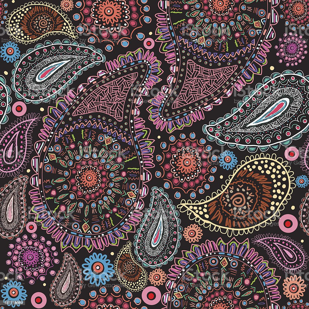 Paisley Seamless Pattern royalty-free stock vector art