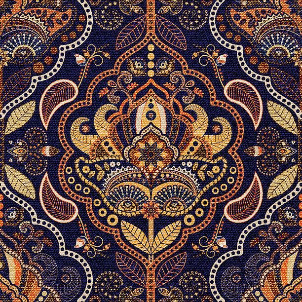 stockillustraties, clipart, cartoons en iconen met paisley seamless pattern - batik