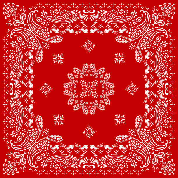 Paisley textile pattern vector illustration for bandana , scarf etc. vector art illustration