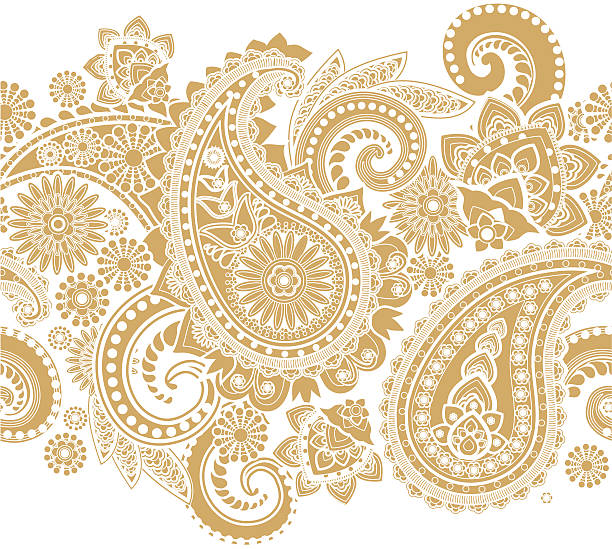 paisley - indian stock illustrations, clip art, cartoons, & icons