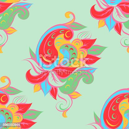Paisley Stock Vector Art & More Images of Abstract 596350944