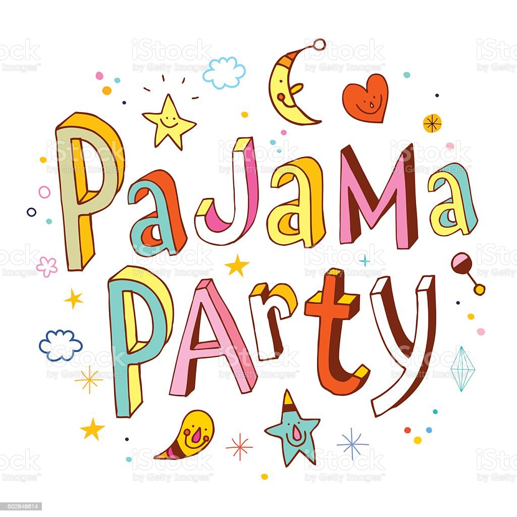 royalty free pajama party clip art vector images illustrations rh istockphoto com  pajama party clipart free