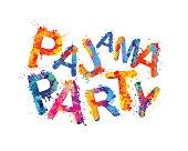パジャマ パーティー。ベクトル スプラッシュ ペイント
