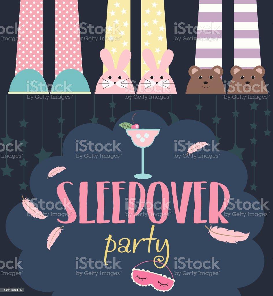 Ilustración de Pijama Pijamada Infantil Fiesta Invitación O ...