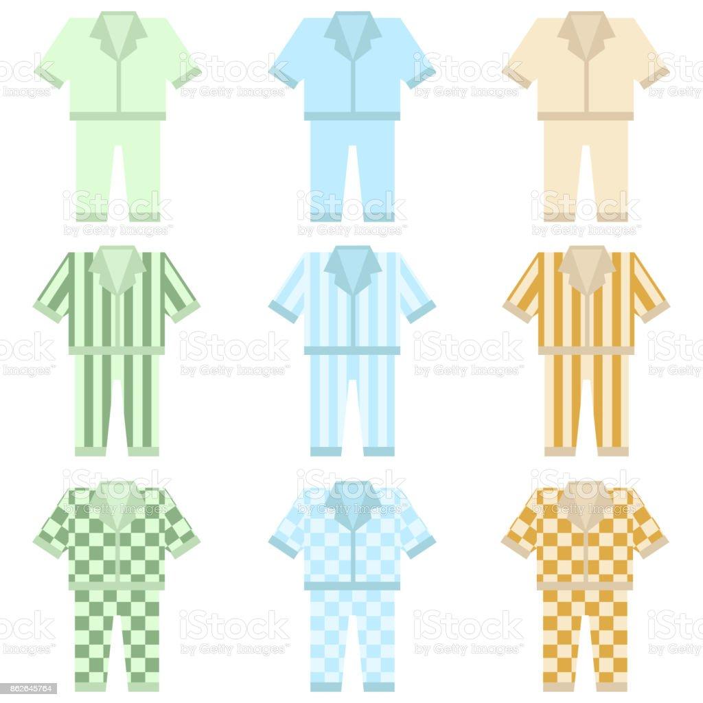 Pajamas, set of Pajamas. vector art illustration