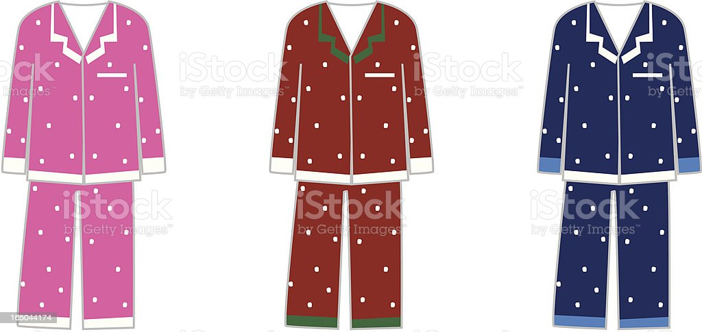 pajamas vector art illustration