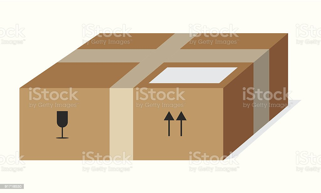 Paket royalty-free stock vector art