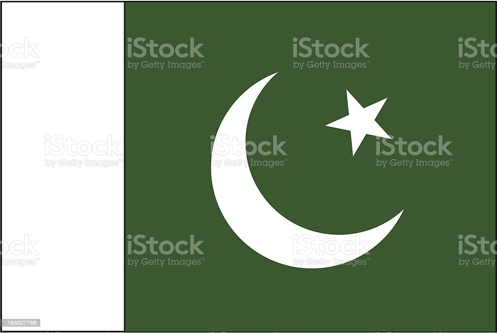 Pakistan Flag ( VECTOR ) royalty-free pakistan flag stock vector art & more images of asia