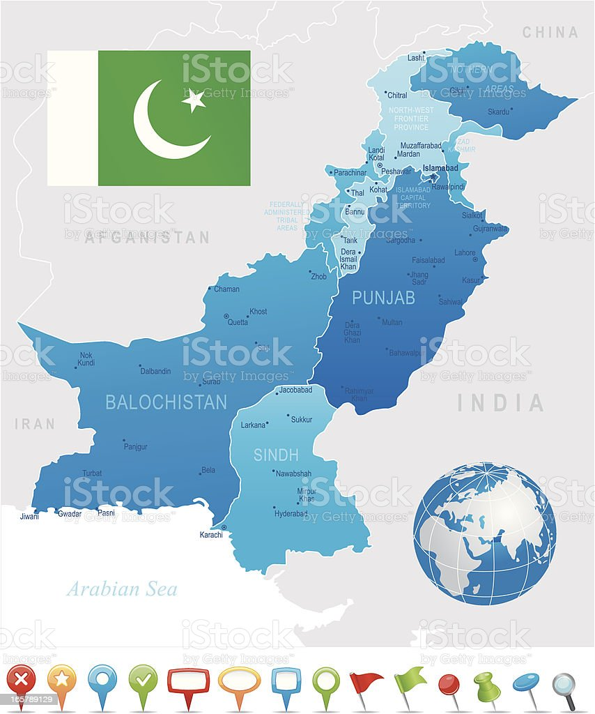 Pakistan Highly Detailed Map Stock Vector Art & More Images