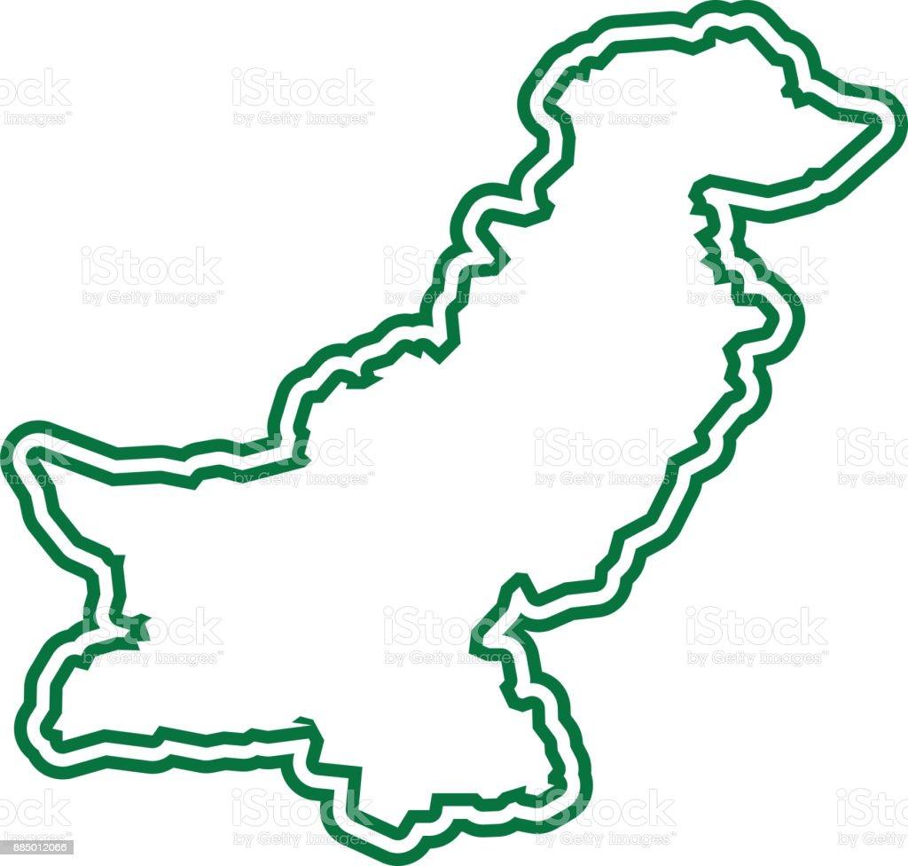 Pakistan Outline Stock Illustration - Download Image Now